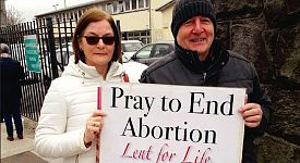 Pro-abortionists want to criminalise women and men taking part in Pro-Life Prayer Vigils in N. Ireland
