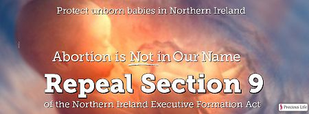 ACTION Alert: Barbaric Abortion Regime Confirmed for Northern Ireland. Will you help us fight it? Email your MLA now