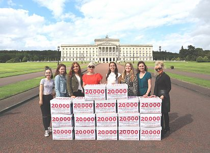 BREAKING: Precious Life present 20,000 strong Lobby for Life petition to NI Secretary of State