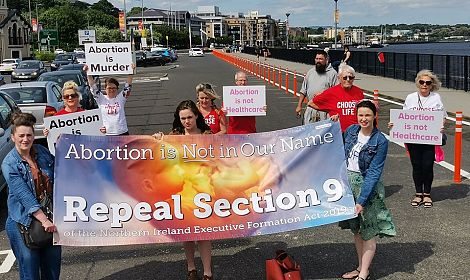 Precious Life's Repeal Section 9 Campaign visits Derry